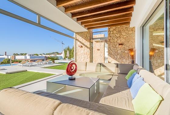 impresionante villa Cala Conta Sunset en Ibiza, San Jose