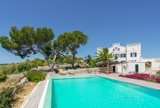 awesome villa Torre Bes in Menorca, Mahón