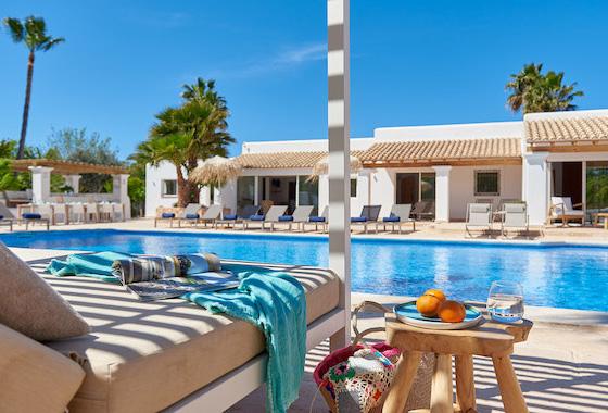 impresionante villa Blue Bassa en Ibiza, San Agustín